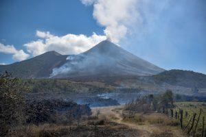 vista del volcán pacaya