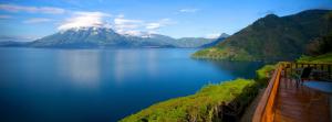 Vista del Lago Atitlan en Guatemala