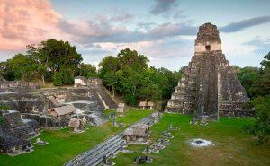pirámide de las ruinas de tikal en Guatemala
