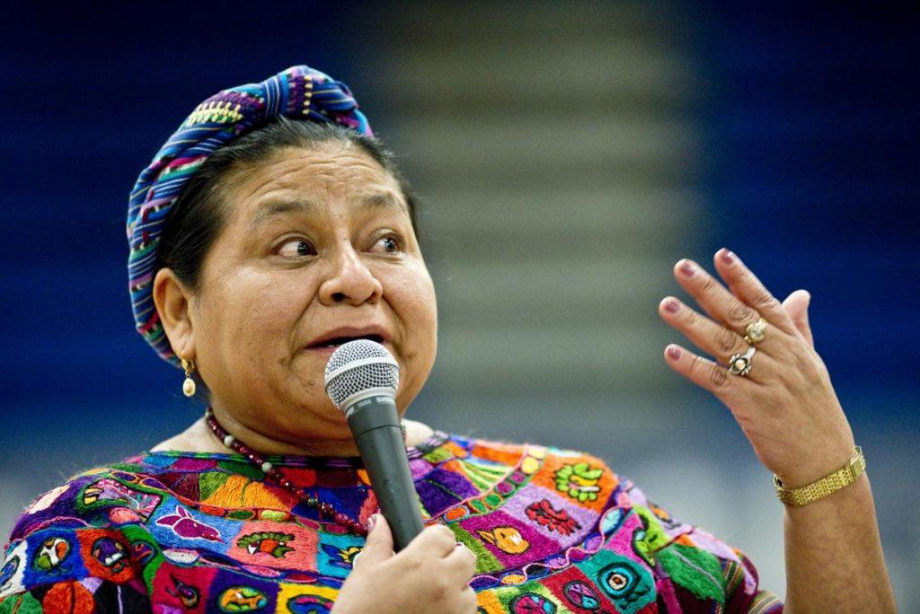 Una de las personas más importantes de Guatemala, Rigoberta Menchú